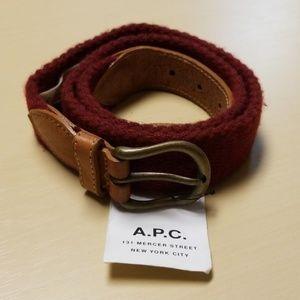A.P.C. Belt Burgandy